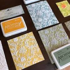 today i used them with the new embossing folder my use for embossed ceilings on dollhouses