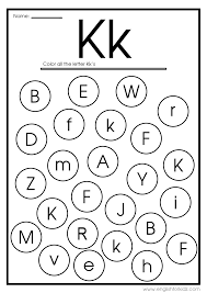 Coloring is a fun way for kids to be creative and learn how to draw and use the colors. Letter K Worksheets Flash Cards Coloring Pages