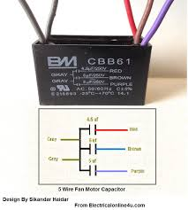 two phase five wire diagram 5 wire ceiling fan capacitor wiring diagram