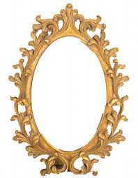 ornate gold framed oval wall mirror for