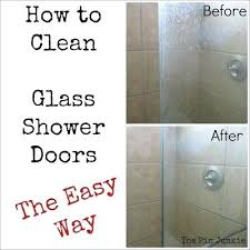 best way to clean shower glass clean glass shower doors warm 8 oz 1 cup vinegar mix in 8 oz 1 cup dawn spray on let set for a few minutes use