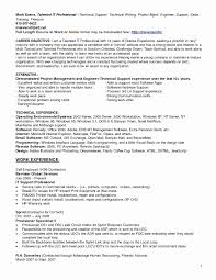 Technical Support Engineer Resume Sample Luxury Resume Format