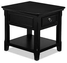 attractive black end tables at turner coffee table and two leon s best