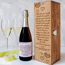 Il vino la mattina è piombo, a mezzodì argento, la sera oro. Cassettina Porta Vino In Legno Personalizzata Con La Tua Frase D Amore Idea Regalo San Valentino Olalla