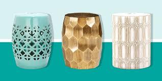 metal and ceramic garden stools