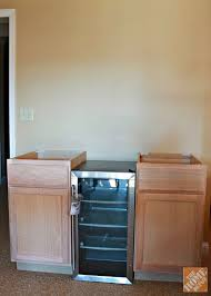 Two 18inch Base Cabinets And A 17inch Beverage Cooler To Use As 18 Inch Cabinet O19