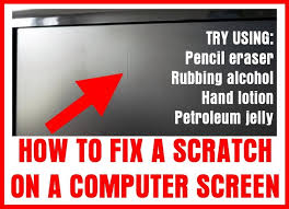 how to fix scratch on computer screen