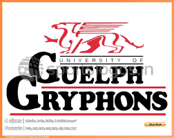 University Logo Embroidery Designs Guelph Gryphons College Sports Embroidery Logo In 4 Sizes Spln001701