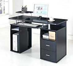wonderful black computer desk glass chrome trolley review and photo curved
