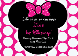 Free Minnie Mouse Birthday Invitations Free Editable Minnie Mouse Birthday Invitations In 2019