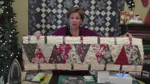 Christmas Table Runner Patterns Impressive Make A Christmas Table Runner Using The Large Wedge Tool YouTube