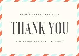 Graduation Thank You Note Graduation Card Thank You Wording For Teacher Thank You