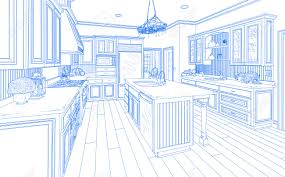 Kitchen Design On Line Drawing Of Kitchen