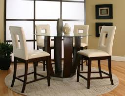 tempered glass top pub table set by cramco inc wolf and round glass bar height dining table