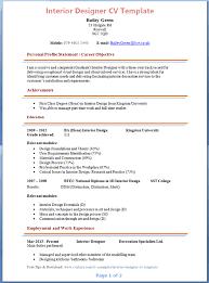 ... Interior Design Resume Sample regarding ucwords] ...
