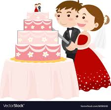 cutting the wedding cake clipart. Brilliant Clipart Bride And Groom Cutting Wedding Cake Vector Image Throughout Cutting The Wedding Cake Clipart E