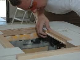 cut out hole for doggie door using circular saw