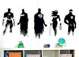 justice league batman superman flash bedroom wall art stickers