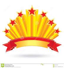 Anniversary Ribbon Tag Shining Gold Stars Of Anniversary Luxury With Ribbon Rising