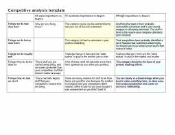 Competitor Analysis Template Xls Product Competitive Analysis Template