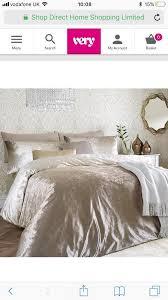 king size crushed velvet bedding set
