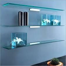 Led Floating Glass Shelves Impressive Led Glass Shelf Led Floating Glass Shelves Glass Wall Floating