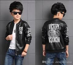 2017 autumn children s clothes boys jackets letters long sleeve pu leather boy jackets for boys big kids outerwears coats kids 3 in 1 winter jackets toddler