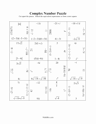 complex numbers worksheet elegant adding subtracting plex numbers worksheet worksheets for all