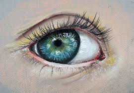the completed painting of an eye
