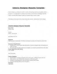 Designer Resume Objective Interior Design Resume Templates Junior Designer Interiorsign 17