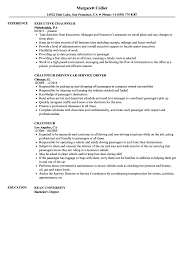Chauffeur Resume Samples Velvet Jobs