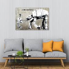 Each cushion has a zip so you can wash the covers safely by following the instructions. Banksy I Am Your Father Street Art Graffiti