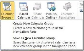 Create A Calendar Group In Outlook 2010 The Productivity Hub