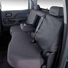 General Motors 23443852 Silverado Seat Cover Black Rear-Fitted ...