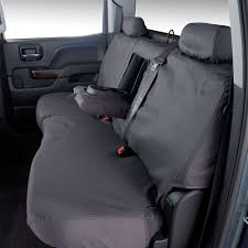 covercraft rear seat cover seatsaver gray for 60 40 split bench seat crew cab chevrolet