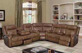Walnut Living Room Furniture Global Furniture U7303 Walnut Sectional