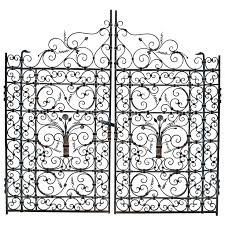 736x736 french or spanish wrought iron garden gate circa 1820 wrought