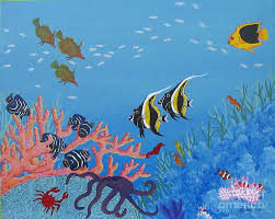 seascape painting under the sea by lori ziemba