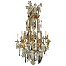 antique chandelier rock crystal chandelier by baccarat for