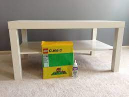 Well, after two toddlers and people who like to put their feet on the table, it started to get a little wobbly. Ikea Hack Lego Lack Table Gaining Mommymentum
