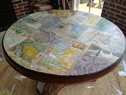 Mod Podge Kitchen Table Mod Podge Map Table Simply Turquoise