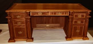 Executive Desk Mahogany Leather Top Inlaid Hand Carved New Free shipping  ELLE #BritishColonial