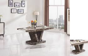 black and chrome furniture. 7Star Marble Effect Boni Dining Solid MDF Made In Black-White And Brown-Cream. Loading Zoom Black Chrome Furniture