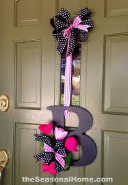 initial wreaths for front doorSpring Decoration Ideas  Spring Decorating Ideas  Decorative