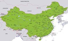 خريطة مدن الصين - الصين خريطة المدن (شرق آسيا - آسيا)