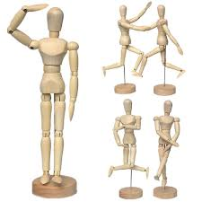 Human Drawing Sketching Model With Stand Figure Model For