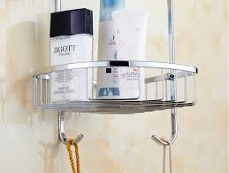 wall mounted 304 stainless steel bathroom soap dish triple tier bath shower shelf bath shampoo holder basket holder corner shelf