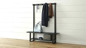 Coat Rack Bench With Mirror Fascinating Entryway Coat Hanger Coat Racks Hallway Bench With Coat Rack Shoe