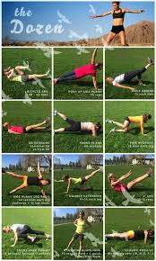 the dirty dozen is a staple core routine it s a small investment of time with a big pay off practice this 2 3 times per week to keep your runner body