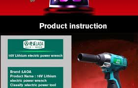 power tools brand names. laoa 16v cordless electric impact wrench power with li-ion battery tools for brand names